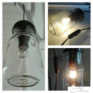 Lamppu lasipurkista